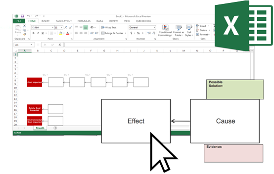 excel-cause mapping template page